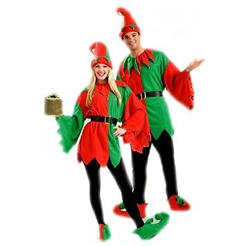 Desconocido Party On Fancy Dress - Disfraz para adulto de duende de navidad (unisex): Bristol Novelty: Amazon.es: Juguetes y juegos