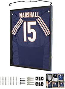 Coin and Coins Ultra Clear UV Protection Baseball//Football Jersey Frame Display Case Shadow Box Cherry