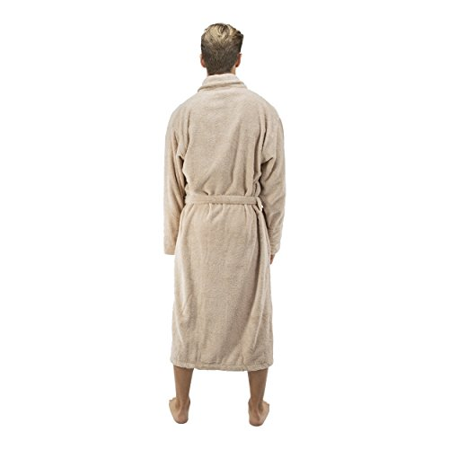 Comfy Robes Personalized Men's 16 oz. Turkish Terry Cotton Bathrobe, L/XL (OSFM) Tall Beige by Comfy Robes (Image #6)