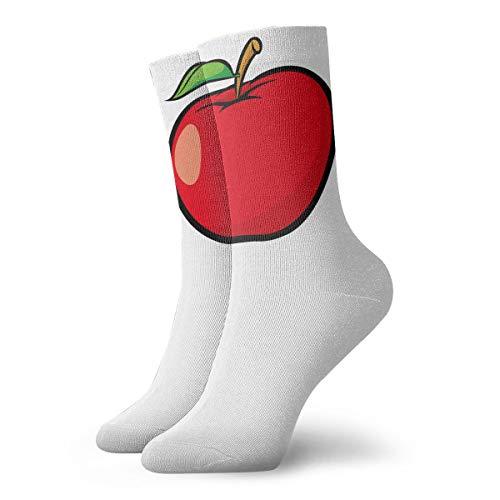 YUANSHAN Socks Red Fruit Apple Women & Men Socks Soccer Sock Sport Tube Stockings Length 11.8Inch ()