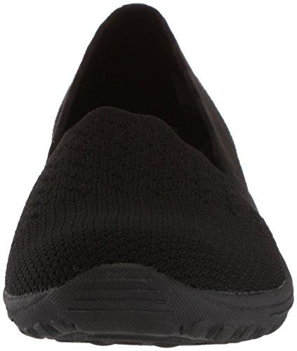 Skechers Knit Women's Fest Loafer Dame Reggae 5 Engineered Slip 7 Skech M Scalloped Black Trail On Collar US rrdwqz