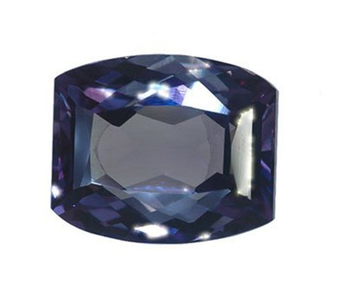 Simulated Alexandrite Unset Loose Gemstone Fancy Cushion 20mm X 16mm