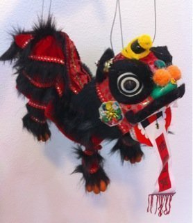 Used, SPARIK ENJOY Black Lion Marionette Chinese Hand Marionette for sale  Delivered anywhere in USA