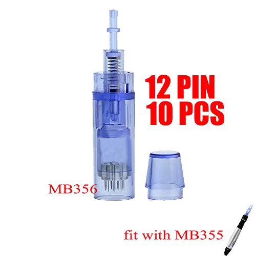 MISSAMMY Electric Dermabrasion Care System -Black PEN (Blue 12pin 10pcs)
