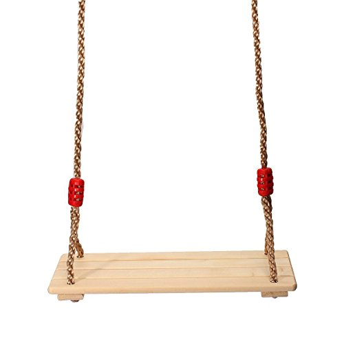 Magic tree swings Wooden swings for children Outdoor swings seat The tree swings Sling length 83'' adjustable (Pine Swing Sets)