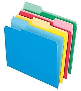 Pendaflex File Folder, 1/3 Tab, Assorted Color, Letter Size, 36 per pack (03086)