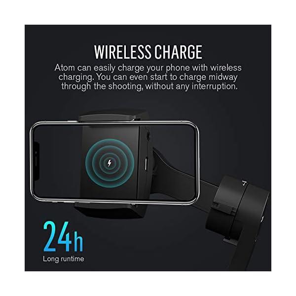 Stabilizzatore Smartphone Snoppa Atom Foldable, Gimbal Smartphone 3 Assi, per Cellulare iPhone Huawei Xiaomi Samsung etc, stabilizzatore per gopro 8 7 6 5, 310g carico utile, durata 24 ore,Pan 360° 6 spesavip