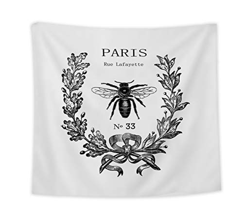 DCGARING Tapestry Wall Hanging- Rue Lafayette Bee -Art Nature Home Decorations for Living Room Bedroom Dorm Decor -Size:59x90 (Lafayette Outdoor Hanging)