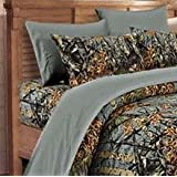 20 Lakes Microfiber 6 Piece Camo Rustic Bed Sheet Set & Pillowcases(Gray, Full)