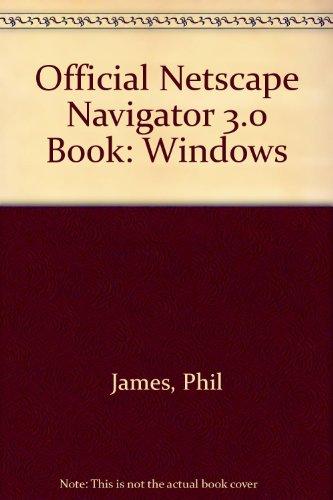 official-netscape-navigator-30-book-windows