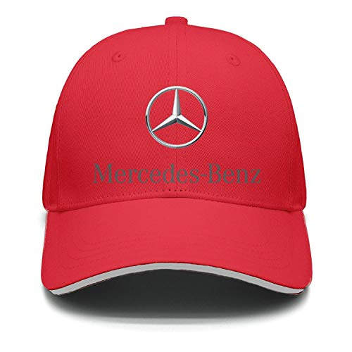 Printed Mercedes-Benz-Logo-Symbol-Emblem- red Baseball Hats Womens Mens