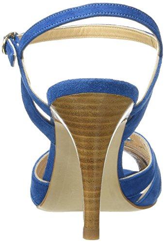 Petite Mendigote Sandali Damen Tacchi Medi Hibiscus Suede Pumps Blau (jean)