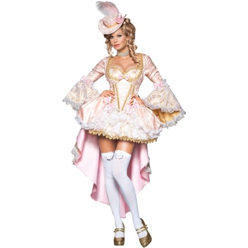 InCharacter Women's Vixen of Versailles Vampiress Costume, Pink/White,