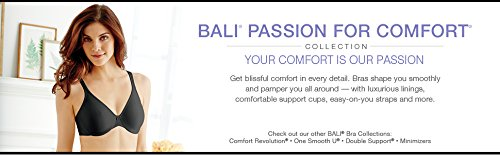 Bali Passion For Comfort Minimizer Underwire Bra, White, 38C by Bali (Image #8)