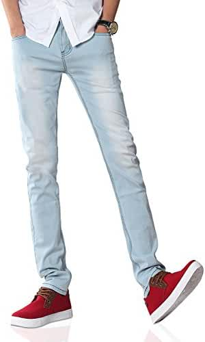 Demon&Hunter Men's Blue Skinny Fit Stretch Jeans S8L08