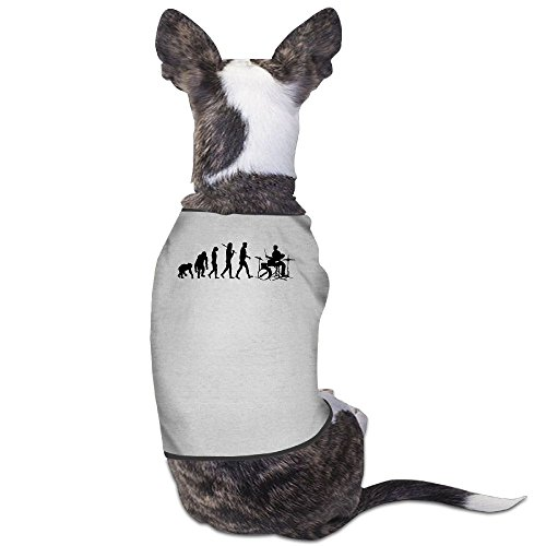 Skkoka Fashion Sleeveless Pet Supplies Dog Cat Clothes Drum Set Drummers Funny Drumming Music Evolution Pet Apparel Clothing M Gray