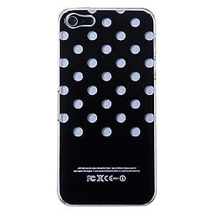 New Sense Polka Dot Flash Light LED Color Changing Hard Case for iPhone 5 , Black