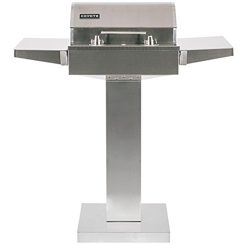 Coyote 18-inch Built-in / Portable Electric Grill On Patio Post - C1el120sm + C1elct21 by Coyote