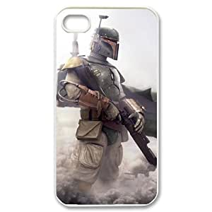 C-EUR Customized Print Star Wars Warrior Pattern Back Case for iPhone 4/4S