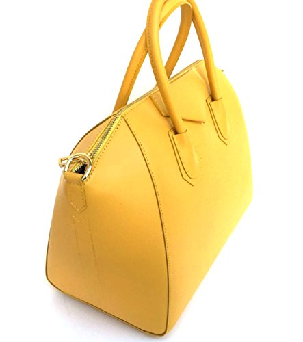 main en Italie Jaune Model véritable Sac Superflybags Rebecca en Lissé cuir Fabriqué à qSwE1xfB