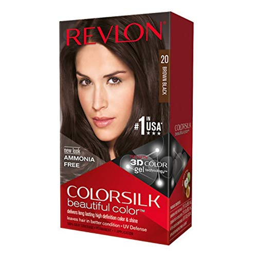 Revlon ColorSilk Hair Color, 20 Brown Black 1 ea (Pack of 3)