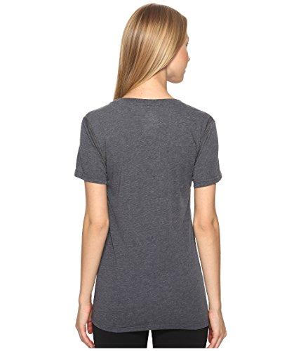 adidas Women's Training Ultimate Short Sleeve V-Neck Tee, Dark Grey Heather/Black, Small by adidas (Image #2)