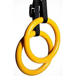 TOBETE ABS + Nylon Gymnastic Rings Adjustable Straps For Crossfit Gym Rings Straps Buckles Training Pull Up Dips