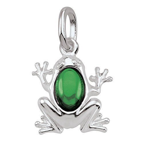 PersonaPhi Sterling Silver Charm, Symbols in Stone Collection, Frog