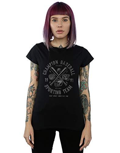 Atlanta Absolute Mujer Negro Drewbacca Cult Camiseta Baseball qfaTgpBf