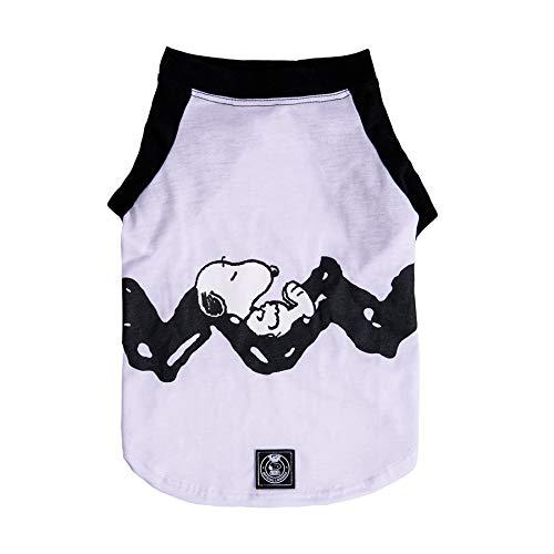 Camiseta Zooz Pets Snoopy Rest Branca para Cães Tamanho PP