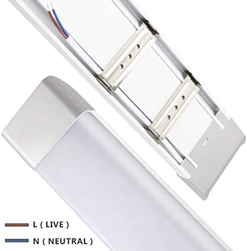 Led Atomant Pack 2x Pantalla 60 cm Plus, Doble Potencia 36 W, Color Frio Tubo Integrado T8 Equivalente a 4 Tubos Fluorescentes 3400Lm, Regleta Led Slim, Blanco frío 6500K, 2