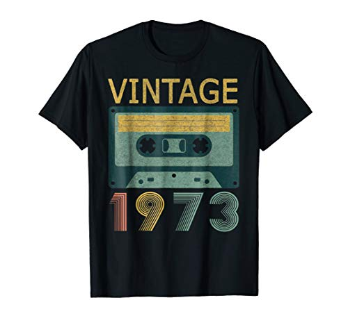 Vintage Made In 1973 45th Birthday Gift Shirt Cassette Shirt