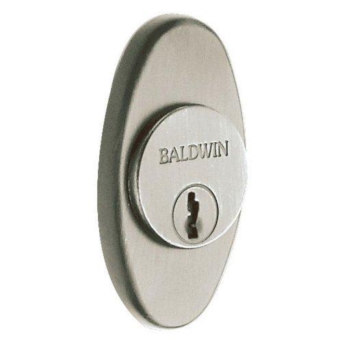 Baldwin 6754 Oval Decorative Cylinder Trim Collar, Satin Nickel