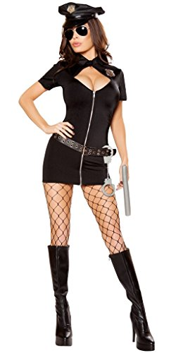 Musotica 21 Jump Street Women's Police Halloween Costume - Black - Small -
