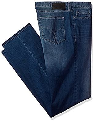 Calvin Klein Jeans Men's Big and Tall Straight Leg Jean Authentic Blue