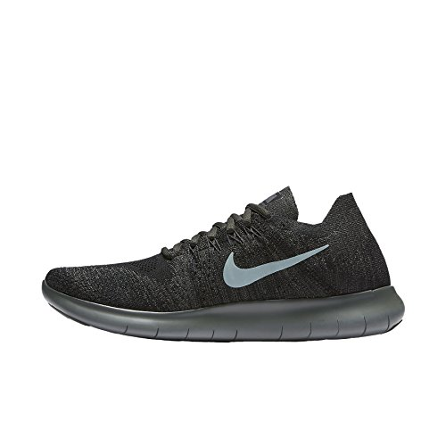 Nike Mens Free RN Flyknit 2017 Running Shoes Black/River Rock/Anthracite 880843-012 Size 13