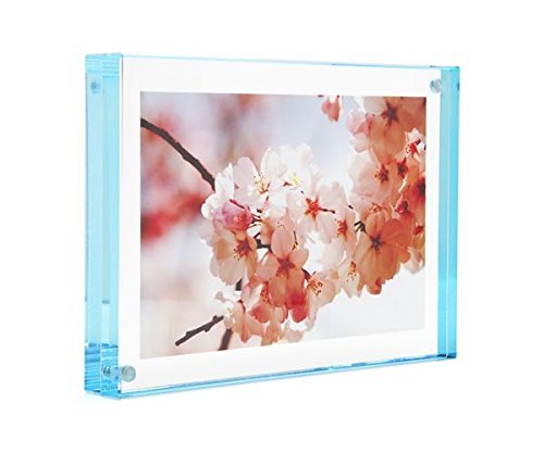 Color Edge Magnet Frame by Canetti-Pastel Aqua 4x6 inch by Canetti