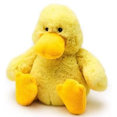 DUCK JUNIOR WARMIES Cozy Plush Heatable Lavender Scented Stuffed Animal: Health & Personal Care