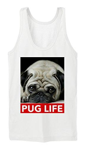 Pug Life Tanktop Girls Blanc