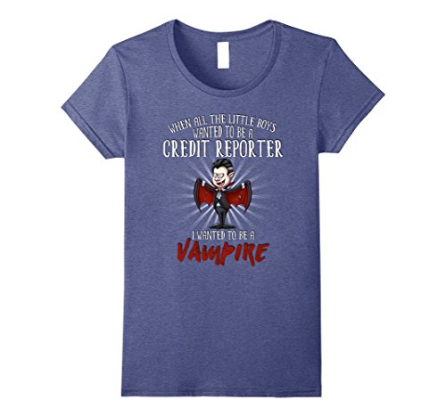 Reporter Costume (Womens Halloween Party Vampire Costume for Credit Reporter Small Heather Blue)