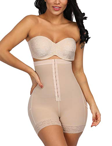 FEDNON Women's Butt Lifter Shapewear Panty High Waist Body Shaper Workout Slimmer Girdle Complexion S