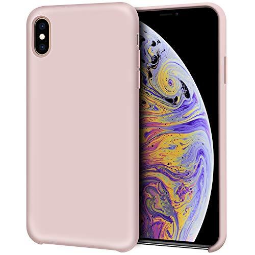 (Anuck iPhone Xs Max Case, Non-Slip Soft Silicone Case Gel Rubber Bumper Microfiber Lining Cushion Hard Shell Drop Protection Shockproof Slim Protective Case Cover for iPhone Xs Max 6.5