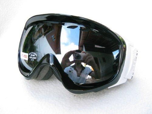 Ravs by Alpland SNOW SKI ALPIN SKIBRILLE SNOWBOARDBRILLE - goggle - STRONG SILVER FLASH LENS!HELMKOMPATIBEL mit SOFTBAG!