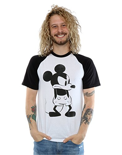 Disney men 39 s mickey mouse angry baseball t shirt large for Oversized disney t shirts