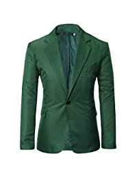 Men's Casual One Button Lapel Blazer Jacket