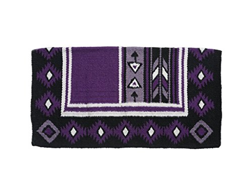 Tough 1 Cherokee Wool Saddle Blanket Purple/Black by Tough 1 (Image #1)
