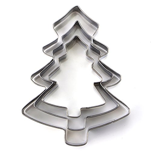 Stainless Steel DIY Christmas Holiday Cookie Cutter Set D...