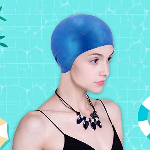 USBNOVEL Swim Cap,Silicone Swimming Cap for Women Long Hair Men Unisex Adult Kids -3D Ergonomic Cover Ears Protection Design