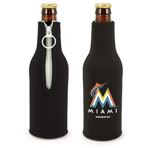 Mlb Baseball Beer Bottle Insulators   Neoprene Beer Bottle Suits  Set Of 2  Marlins