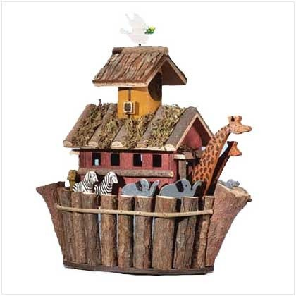 Clever Birdhouse - Thatch Roof Wood Cottage Chimney Birdhouse Bird House
